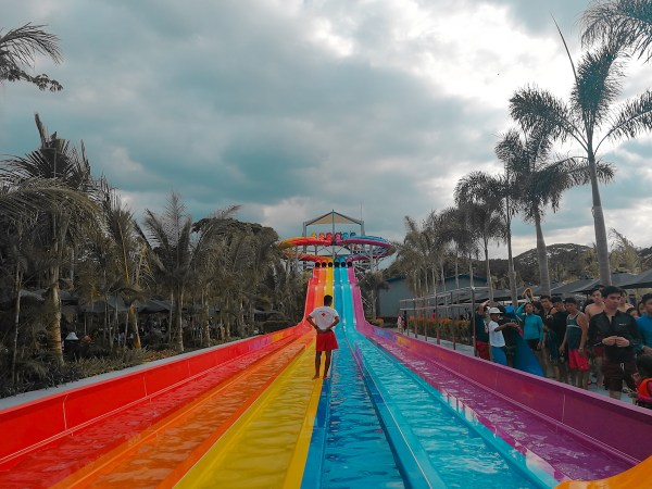 The colorful, Slip N Slide