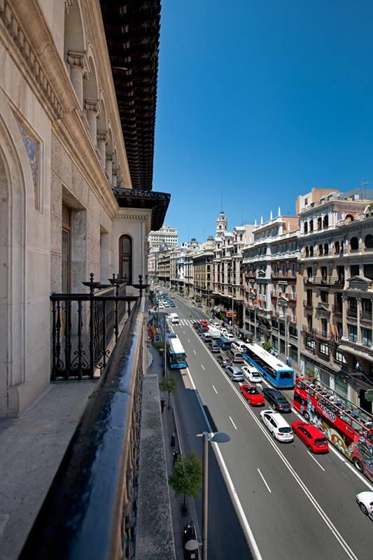 View from the Veranda of Hotel Catalonia Gran Via