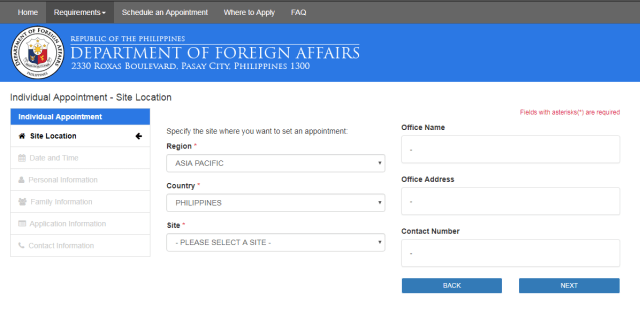 Passport applications and renewals require online registration.