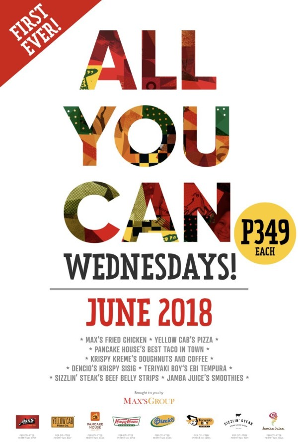 Eat all you Can Wednesdays at Max's Group