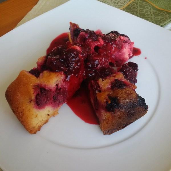 Homemade Blackberry Cake