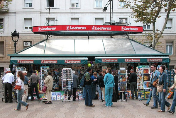 Newspaper and souvenir stall.