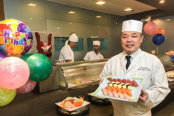 Chef Hiro prepares the most sumptuous Japanese fare for both celebrators and celebrants.