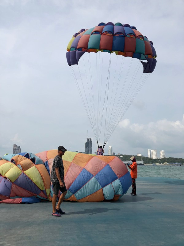 Getting Ready for Parasailing