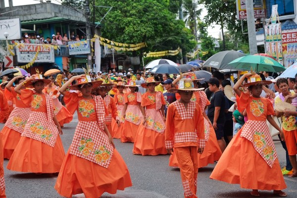 Kneeling Carabao Festival Street Dance Parade