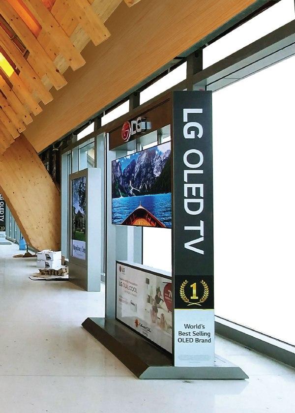 LG Oled TV in Cebu Airport