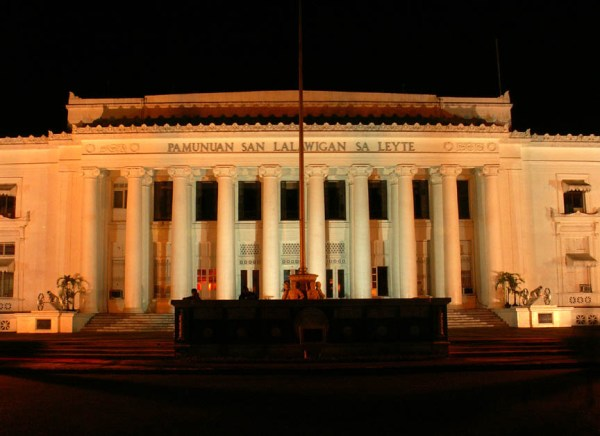 Leyte Provincial Capitol at Night photo by Storm Crypt Flickr