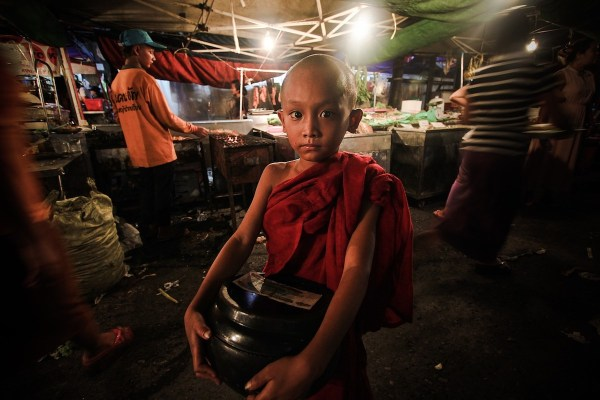 Novice Monk in Yangon
