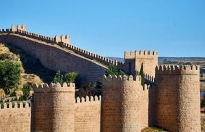 The Walls of Avila in central Spain