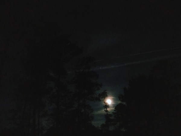 The moon at the start of our trek