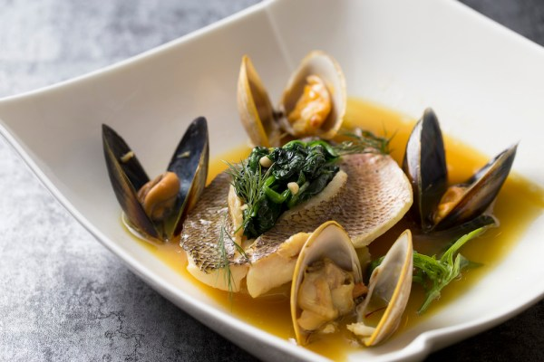 Braised Snapper Fillet in Bouillabaisse Broth