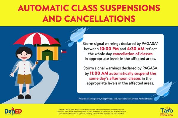 DepEd Class Cancellations - PAGASA