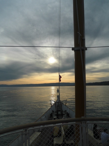 Lausanne Sunset cruise on deck