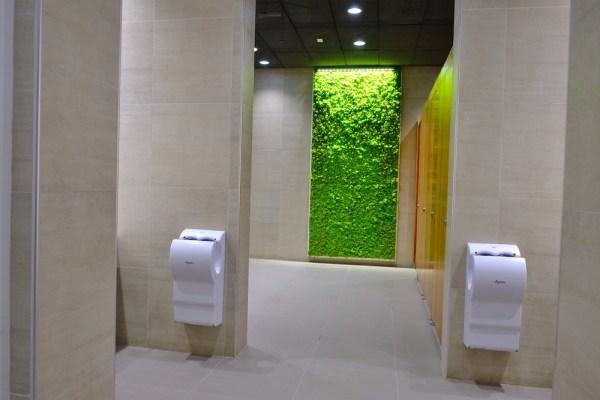 Moss Walls at T2 washrooms