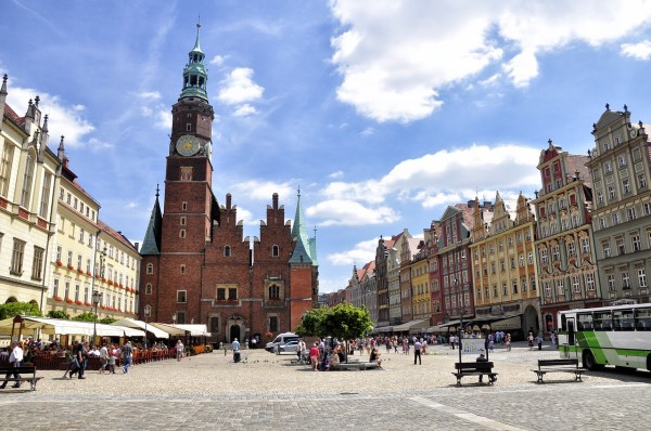 Old Town Hall in Lower Silesia, Wroclaw, Poland