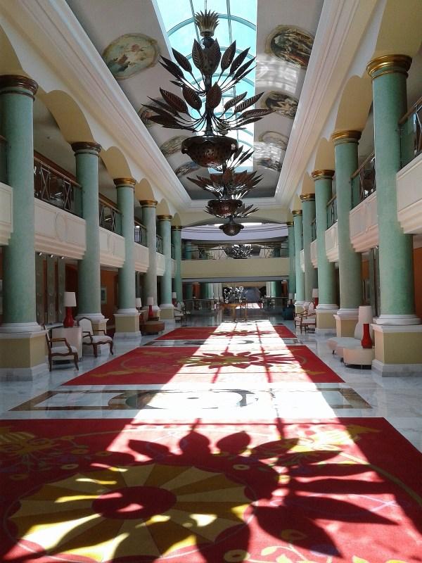 One view of the spacious Iberostar Grand Paraiso lobby