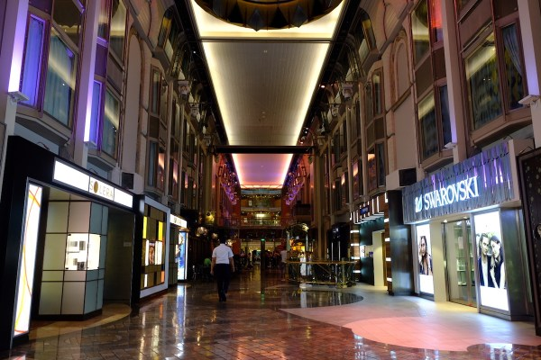 Shopping inside Voyager of the Seas