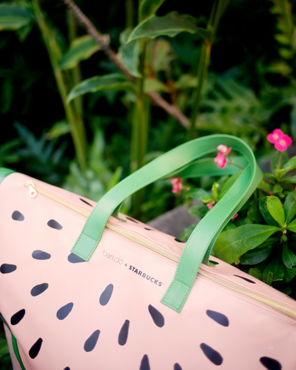 Starbucks Watermelon Cooler Bag designed by ban.do