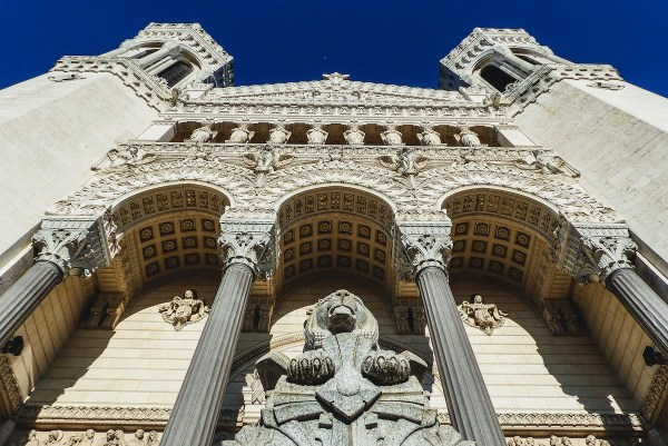 The Basilica of Notre-Dame de Fourviere is a minor basilica in Lyon, France.