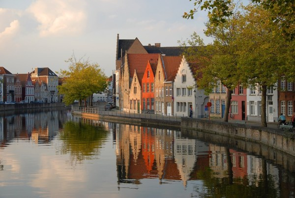 The canals of Bruges, Belgium