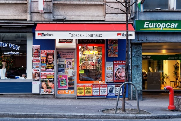 newspaper shop in Lausanne