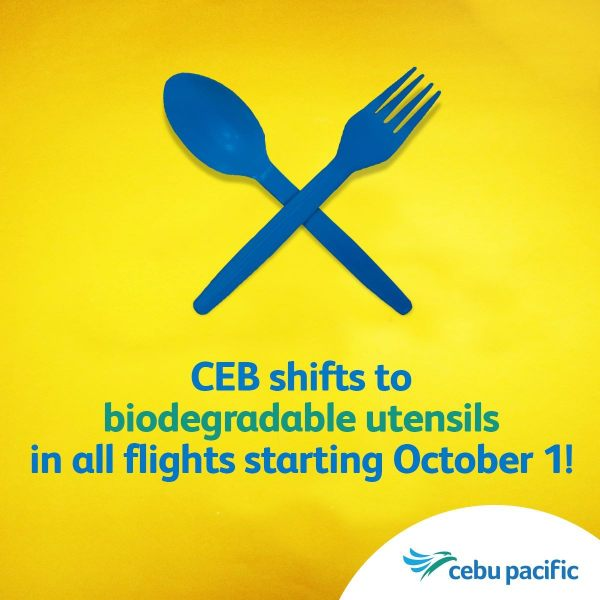 Cebu Pacific Goes Green with Use of Eco-friendly Utensils for all Their Flight