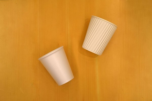 (L-R) old and new hot cup