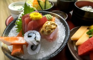 SASHIMI SET - At Kitsho, diners can enjoy their fill of the most mouth-watering sashimi staples.