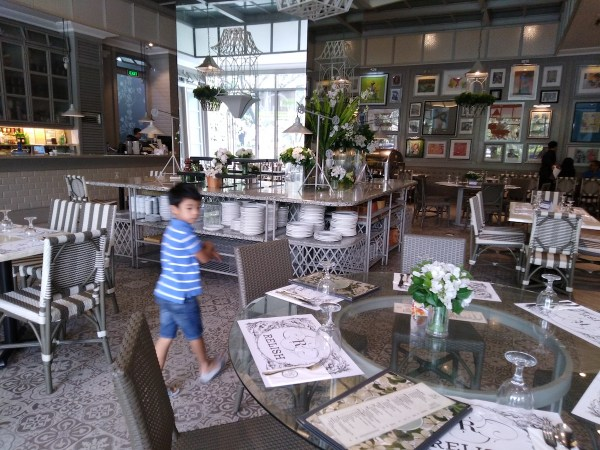 The interiors of Relish Luxe Cafe