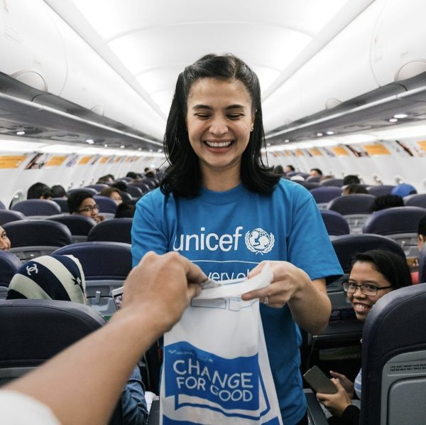 Anne Curtis for UNICEF and Cebu Pacifics Change for Good campaign