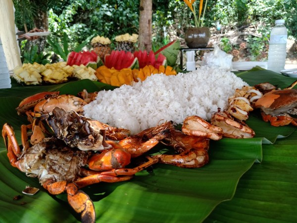 Boodle Fight in Misibis Bay Resort