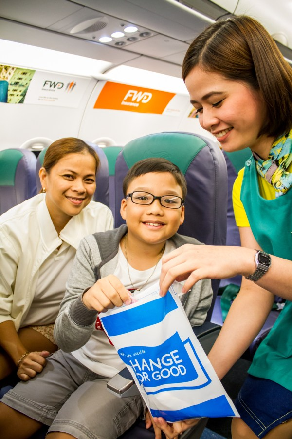 "Cebu Pacific and UNICEF Feed More Children through ""Change for Good"" Expansion in Clark Hub"