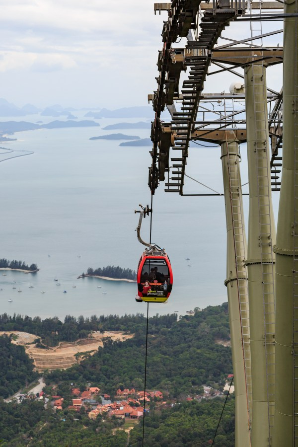 Langkawi Cable Car photo by CEphoto, Uwe Aranas via Wikipedia CC