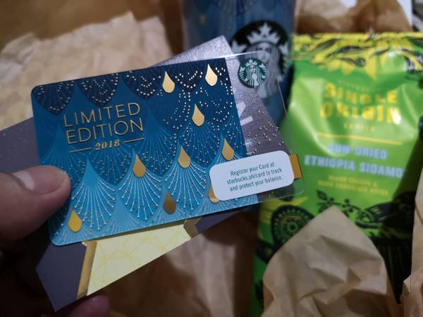 Limited Edition Starbucks Philippines Anniversary Blend Card
