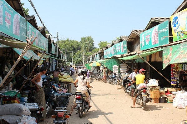 Mani Sithu Market in Bagan