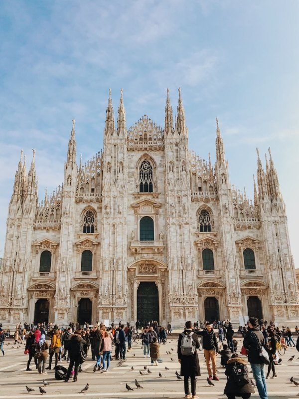 Milan Cathedral photo by Caleb Stokes via Unsplash