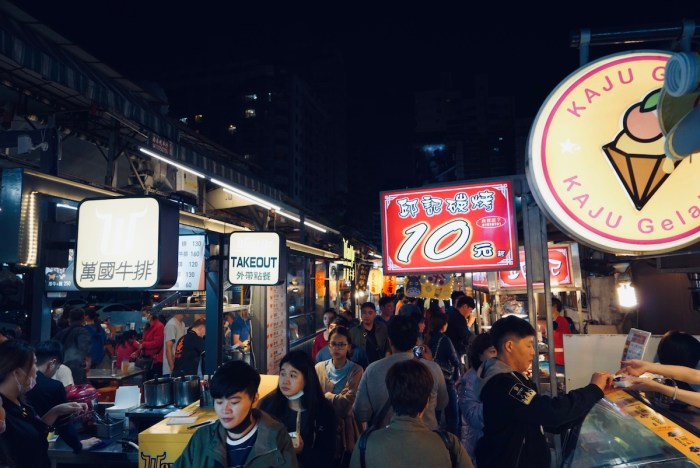 Night Market in Kaohsiung Taiwan