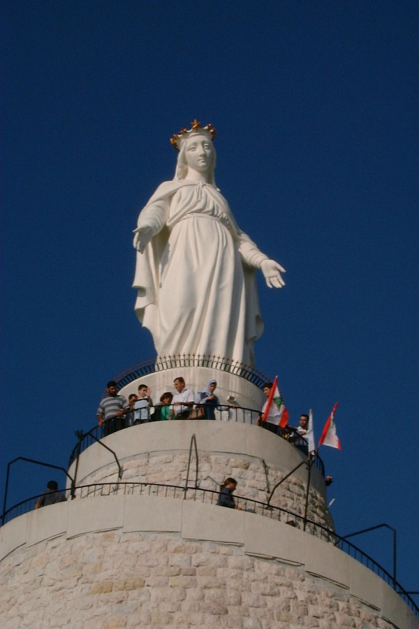Our Lady of Lebanon photo by FunkMonk via Wikipedia CC