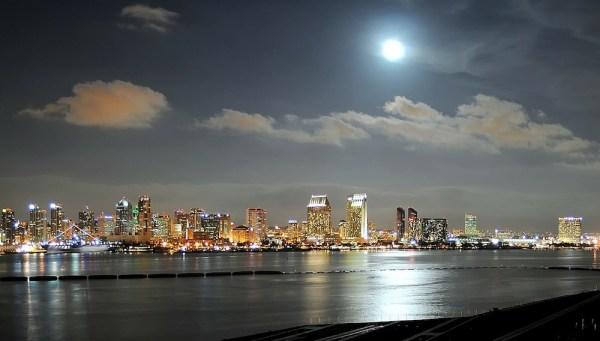 San Diego CA at night