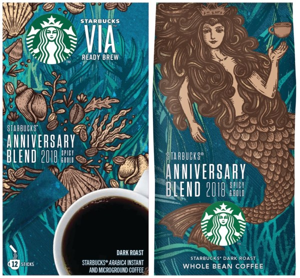 Starbucks Whole Bean and VIA Anniversary Blend
