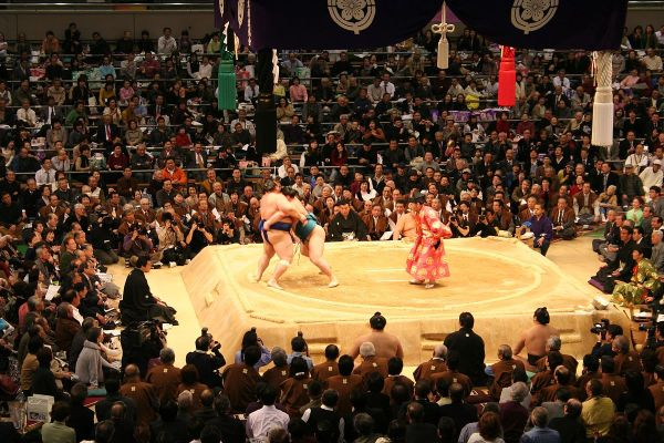 Sumo Tournament by BradBeattie via Wikipedia CC