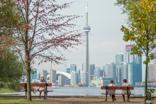 View of the City from Toronto Island photo by Sandro Schuh via Unsplash