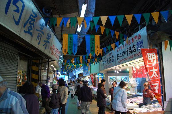 Yanagibashi Rengo Market photo via Wikipedia CC