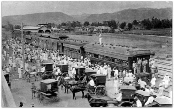 Fiesta train at Cebu Station with 1200 passengers 1914 source from The Philippine Railway Annual Report 1914