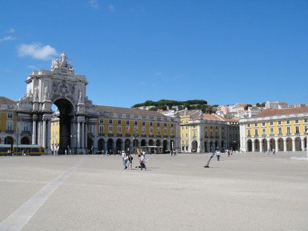 Plaza in Lisbon Portugal
