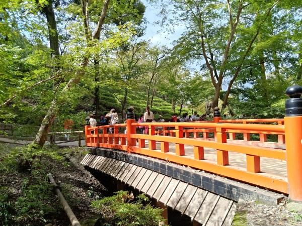 Red Bridge inside Fushimi Inari Shrine Complex