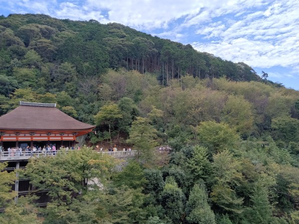 The Main Hall in Kiyomizu-dera Temple