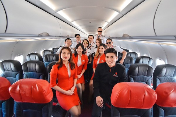 AirAsia Team upon arrival in Panglao International Airport