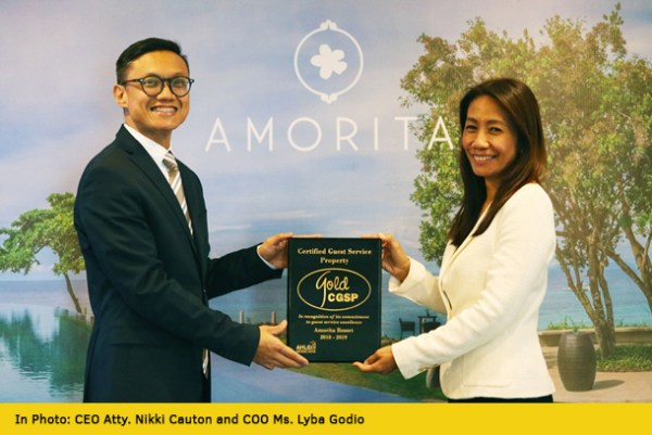 Amorita Resort is now a Certified Guest Service Property
