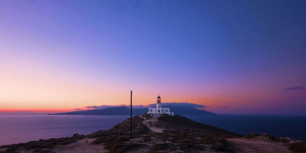Armenistis Lighthouse by Mateus Pabst via Wikipedia CC